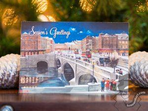 Cork Christmas Card Set