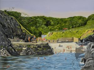 Swimmers View Newtown Cove